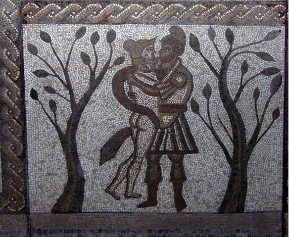 Part of the Low Ham mosaic