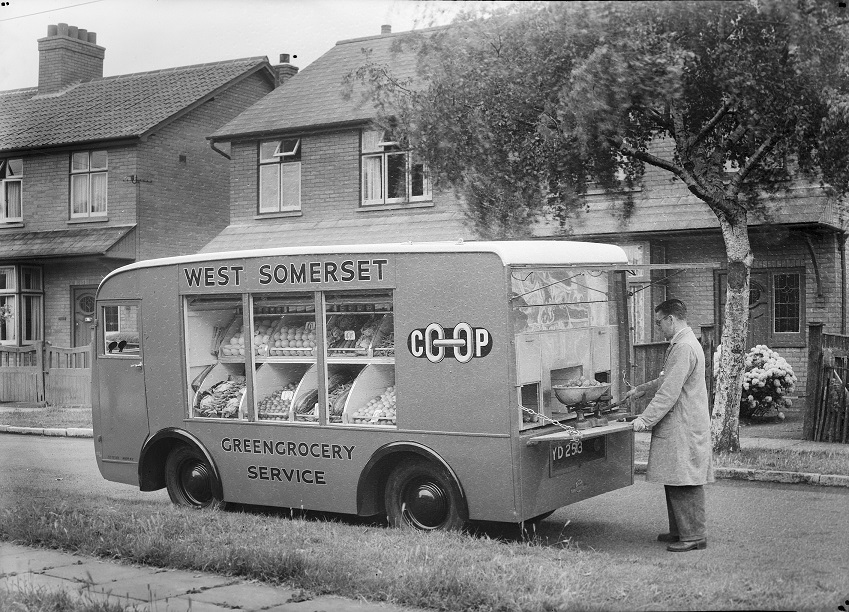 13282 West Somerset Cooperative Society mobile van, 1950